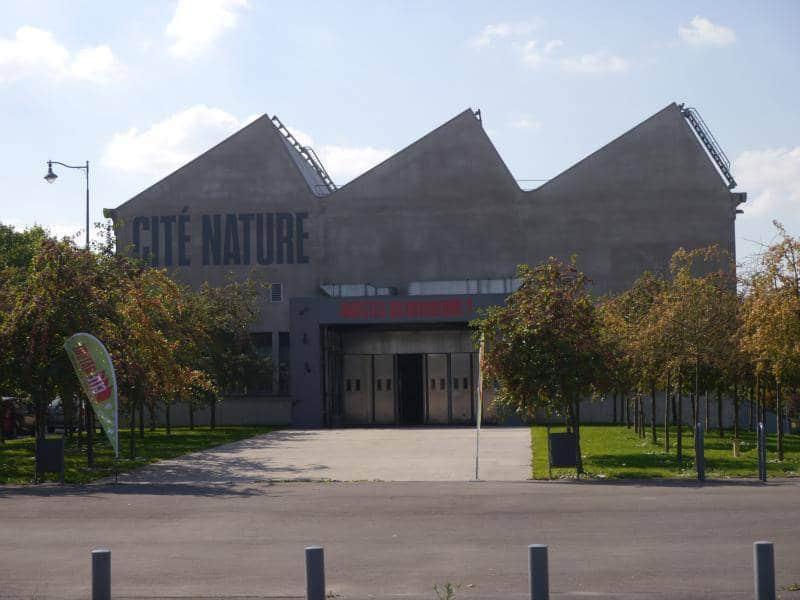 Facade de l'entrée de Cité Nature