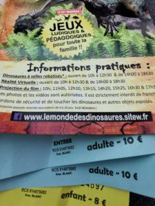 Dépliant et tickets