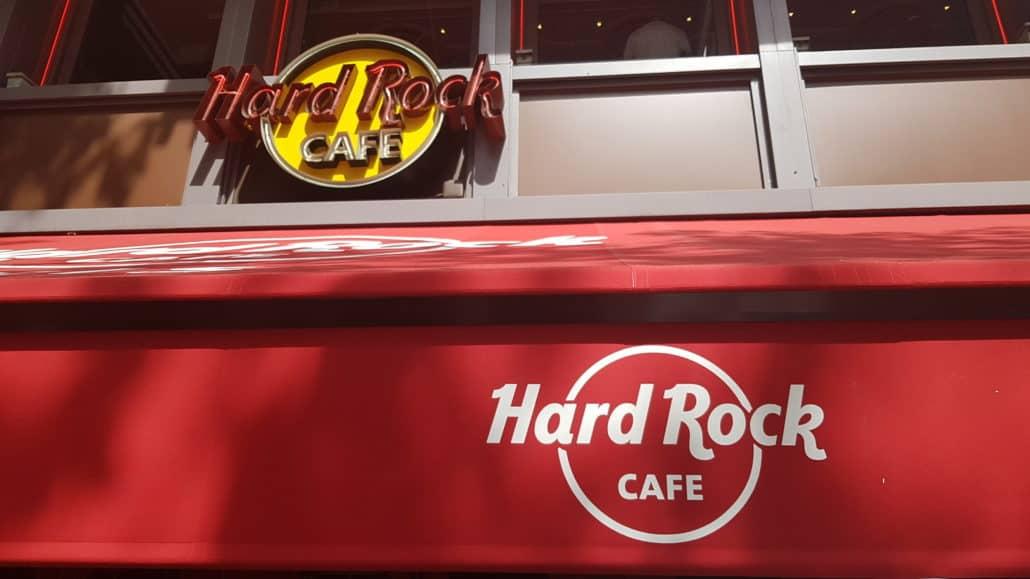 Devanture Hard Rock Café