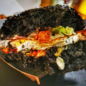 L'intérieur du burger