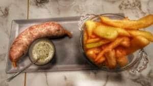 Andouillette d'Arras avec ses frites