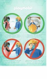 Poster de distanciation playmobil
