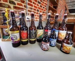 Photo de la gamme de bière de la ferme des Mottes à Marquillies dans le Nord