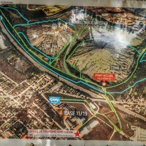 La photo du plan du site des terrils jumeaux de Loos-en-Gohelle.