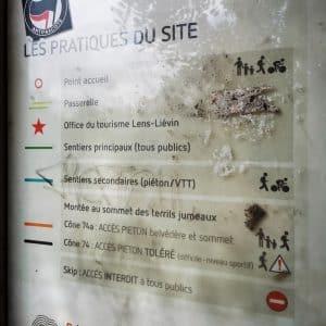 La photo de la légende du plan du site des terrils jumeaux de Loos-en-Gohelle.