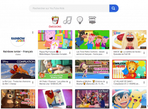 Capture d'écran de Youtube Kids