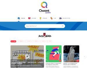 Capture de l'écran du Moteur de recherche Qwant