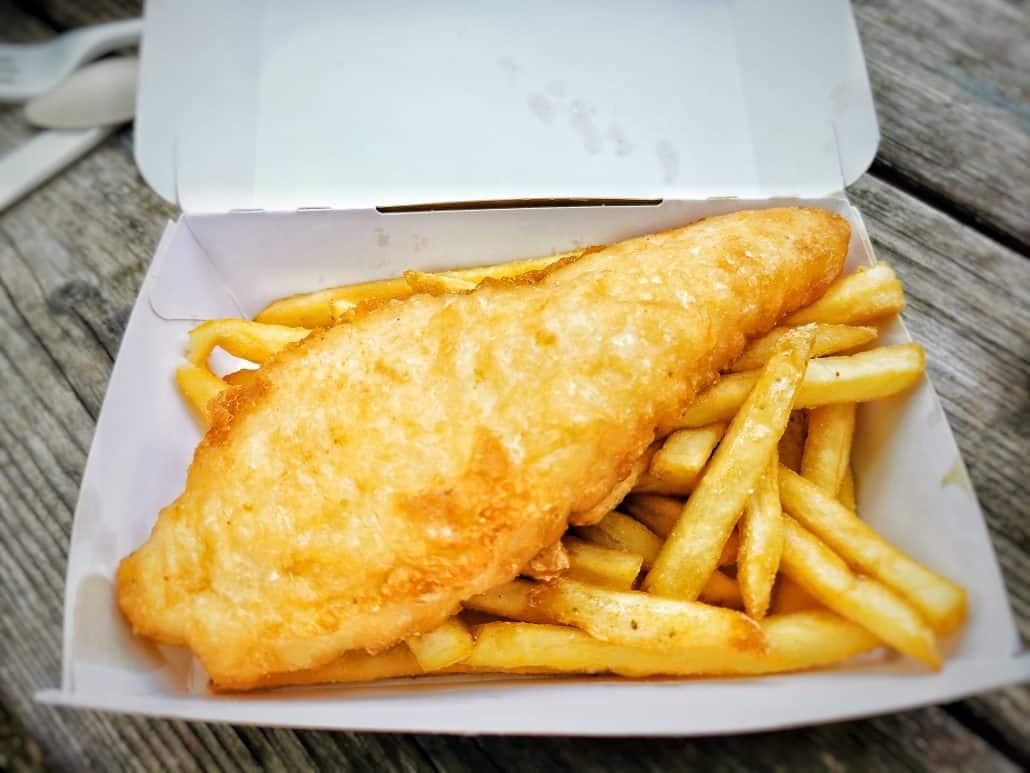 Le fish and chips du Bistro'Brousse au parc zoologique de Thoiry